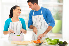 Loving couple salad Royalty Free Stock Images