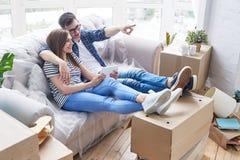 Loving Couple Sharing Ambitious Ideas Stock Photos