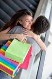 Loving couple at a shopping mall Stock Images
