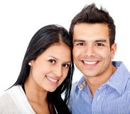 Loving couple smiling Stock Image