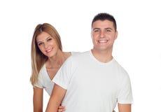 Loving couple smiling Stock Photo