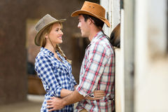 Loving couple stables Royalty Free Stock Photos