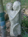 Loving couple in stoneware Stock Photography