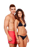 Loving couple in swimwear Royalty Free Stock Photography
