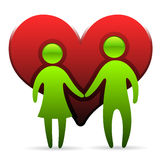 Loving couple symbol Stock Images