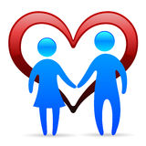 Loving couple symbol Royalty Free Stock Photos
