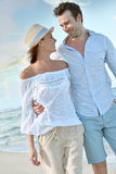 Loving couple on their honeymoon Royalty Free Stock Photo