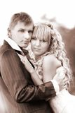 Loving couple on their weddng day Stock Photography