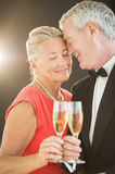 Loving Couple Toasting Champagne Flute Stock Photography