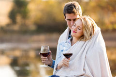 Loving couple together Royalty Free Stock Image