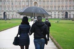Loving couple with umbrella. Royalty Free Stock Photos