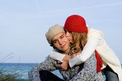 Loving couple on vacation. Loving affectionate young couple on vacation Stock Images