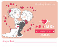 Loving couple , vector illustration. Stock Images