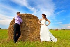 Loving couple on walk Stock Image