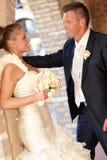 Loving couple on wedding-day Royalty Free Stock Photos