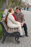 Loving couple in the winter. Stock Photo