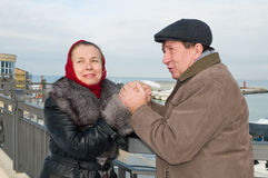 Loving couple in the winter. Stock Photography