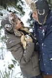 Loving couple at winter Royalty Free Stock Photos