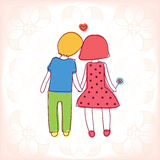 Loving couple. Young couple in love holding hands.  eps10 Stock Photos
