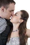 Loving Couples Kisses Stock Image