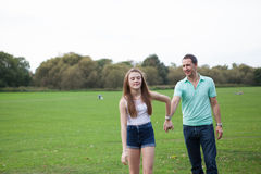 Loving Daughter and Father Stock Photo