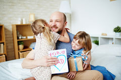 Loving daughters Royalty Free Stock Photography