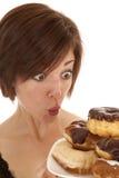 Loving doughnuts Royalty Free Stock Photo