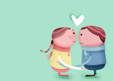 Loving each other. Sweet couple loving each other stock illustration