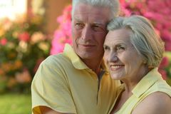 Loving elder couple Royalty Free Stock Images
