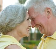 Loving elder couple Stock Image