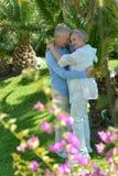 Loving elder couple Stock Photography