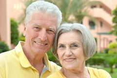 Loving elder couple Stock Photo