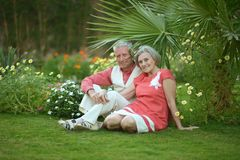 Loving elder couple Stock Photography