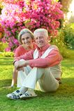 Loving elder couple Royalty Free Stock Photos