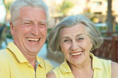 Loving elder couple Royalty Free Stock Photo