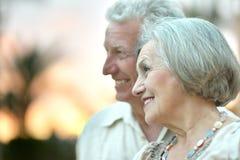 Loving elder couple Stock Image