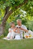Loving elder couple Stock Photo