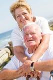 Loving elderly couple stock photography