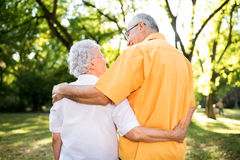 Loving embrace in nature Stock Photo