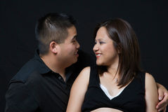 Loving expecting couple Stock Photo