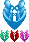 Loving Family. A loving protective family forming a heart shape