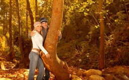 Loving family in the forest Royalty Free Stock Photography