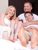 Loving family of four having fun Stock Photography