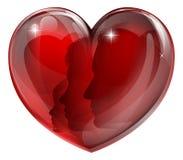 Loving family heart Royalty Free Stock Photography