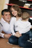 Loving family at home Royalty Free Stock Images