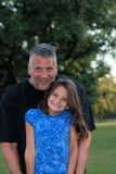 Loving Father. A father and daughter having fun together and spending family time in the park Royalty Free Stock Image