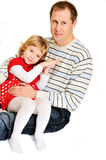 Loving father and daughter Stock Photography