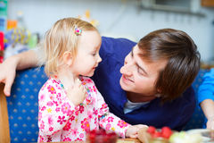 Loving father and daughter portrait Royalty Free Stock Photography