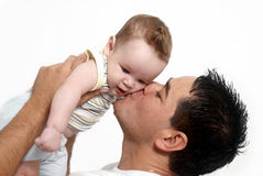 Loving father and his baby Royalty Free Stock Photo