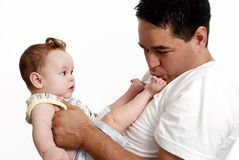 Loving father and his baby Stock Photography